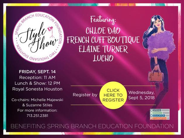 Style Show by Spring Branch Education Foundation (Registration Required) @ Royal Sonesta Houston